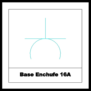 Base Enchufe 16A