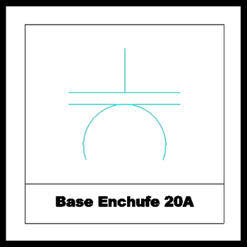 Base Enchufe 2 0A